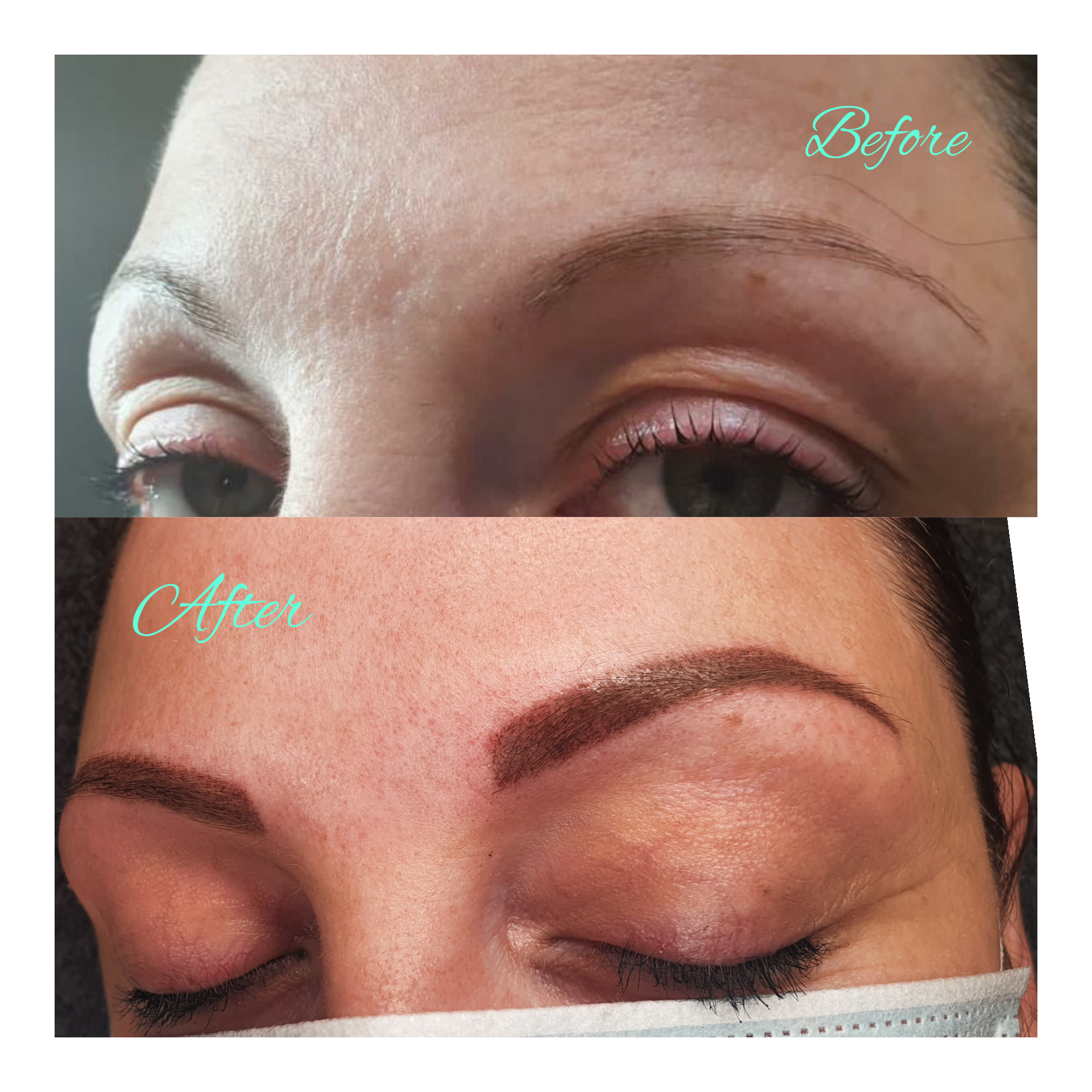 semi permanent make up before after